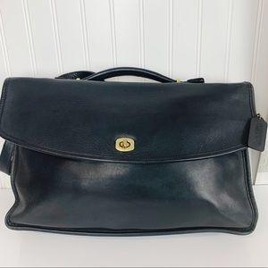Coach Lexington Legacy  Black  Leather Laptop Bag